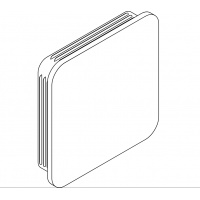 Krytka nárazníka 120x20x3-6mm